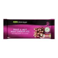 Шоколад Asda fruit & nut  milk chokolate 200г (Германия)