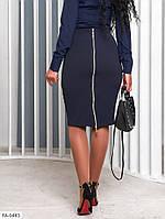 Стильная женская облегающая юбка карандаш до колена с молнией сзади р-ры 42-46 арт. 052