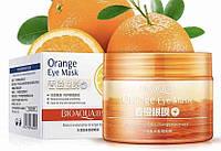 Маска патчи для кожи вокруг глаз с экстрактом апельсина и зеленого чая Bioaqua Orange Eye Mask, 80г/36шт