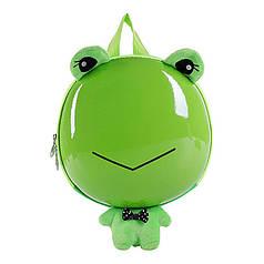Дитячий рюкзак з твердим корпусом Funny Animals Lesko 2020 Жаба з ремінцем анти-потеряшкой