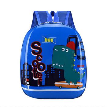 Детский рюкзак с твердым корпусом Lesko DK-12 Dino для прогулок садика