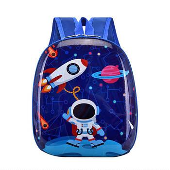 Детский рюкзак с твердым корпусом Lesko DK-12 Cosmonaut для прогулок садика