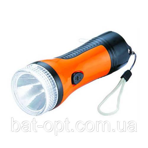 Фонарь ручной Yajia YJ-0929 1LED (встроенный аккумулятор, выдвижная вилка) 12см