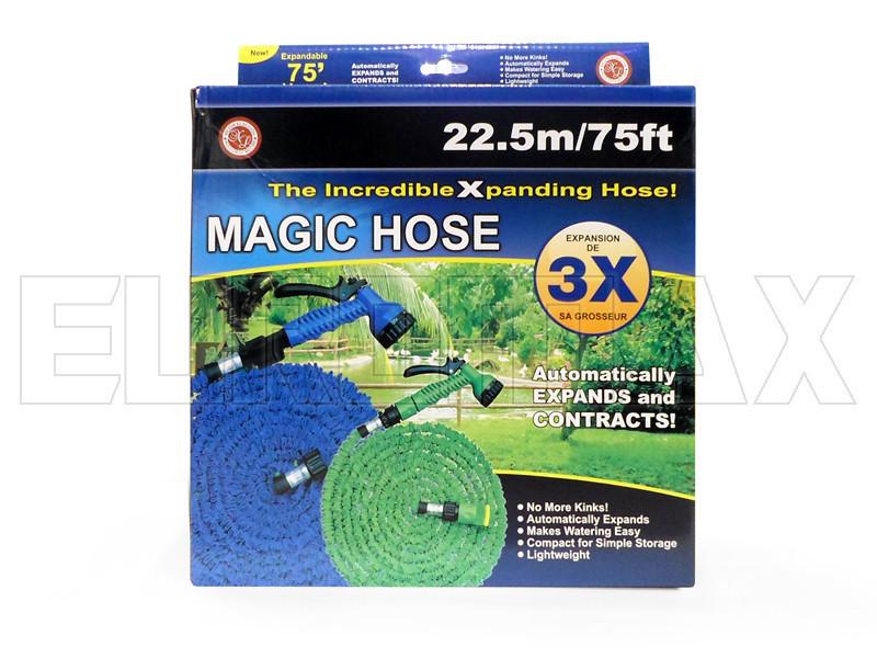Садовий поливальний шланг розтягується X HOSE 22,5 м синій