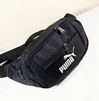 Бананка мужская/женская 4 кармана. Молодежная сумка на пояс черная 33х18х9 см