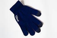 1010 сенсорные перчатки синие