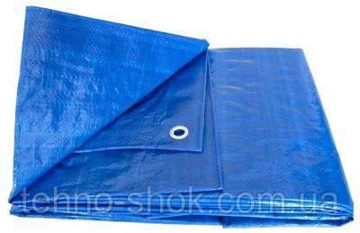 Тент тарпаулин Vaplant 6x8м плотность 60г/м2 GDX покрытие с металлическими люверсами