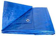 Тент тарпаулин Vaplant 6x8м плотность 60г/м2 GDX покрытие с металлическими люверсами, фото 1