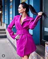 Стильне жіноче пальто під пояс, фото 1