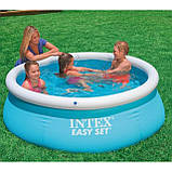 Детский надувной бассейн INTEX 183*51 см 28101 круглый для дома и дачи семейный наливной, фото 5