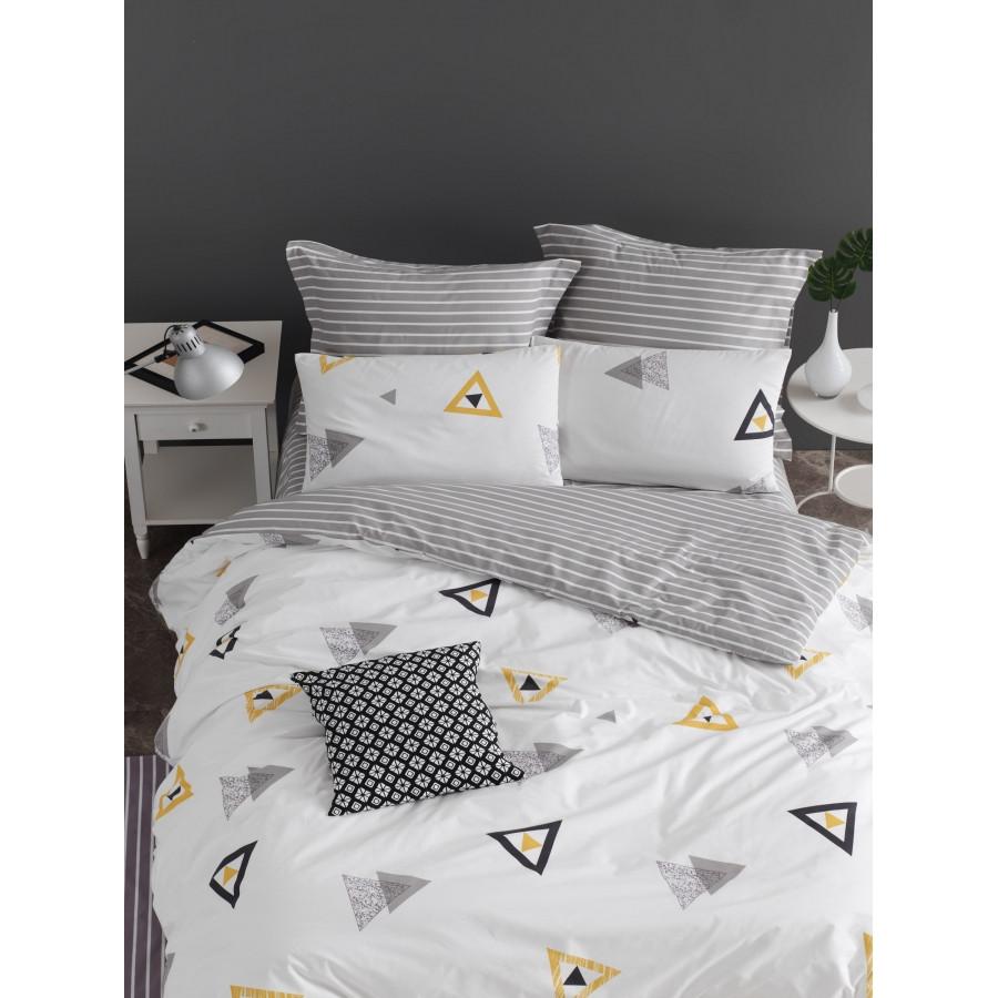 Постельное белье Lotus Home Perfect Ranforce - Erios белый евро