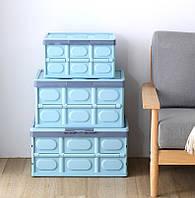 Складной органайзер - ящик в багажник авто (АО-5007) 36*53*29 см (голубой)