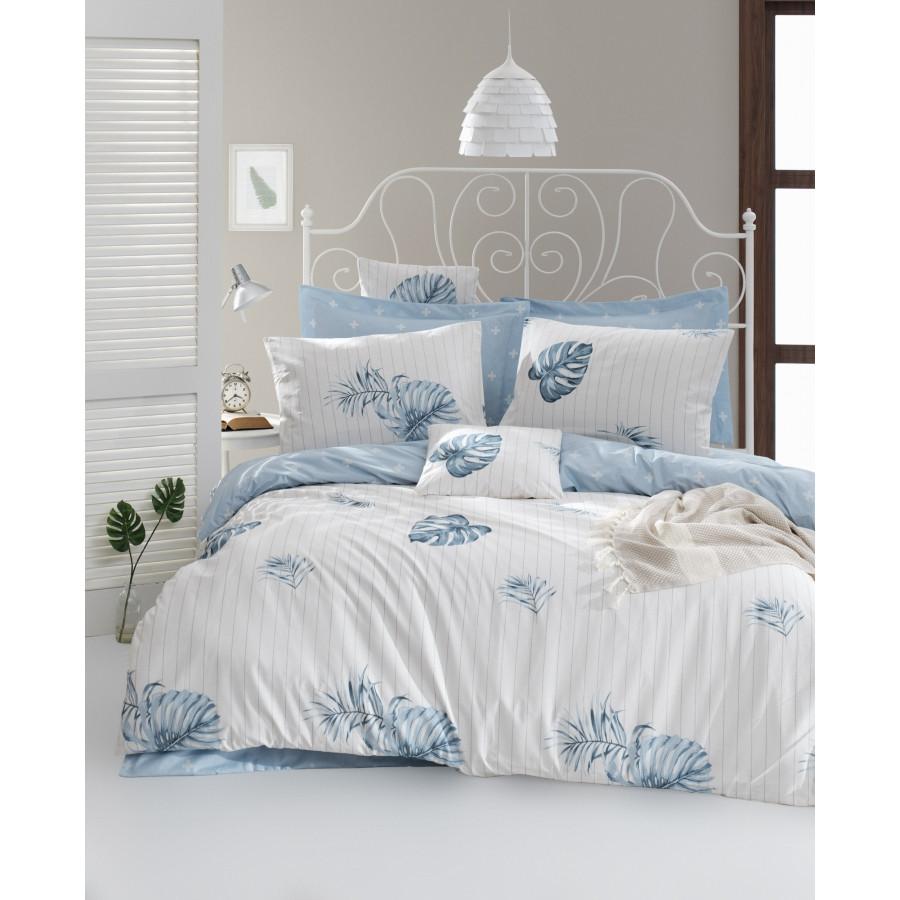 Постільна білизна Lotus Home Perfect Ranforce - Finny блакитний євро