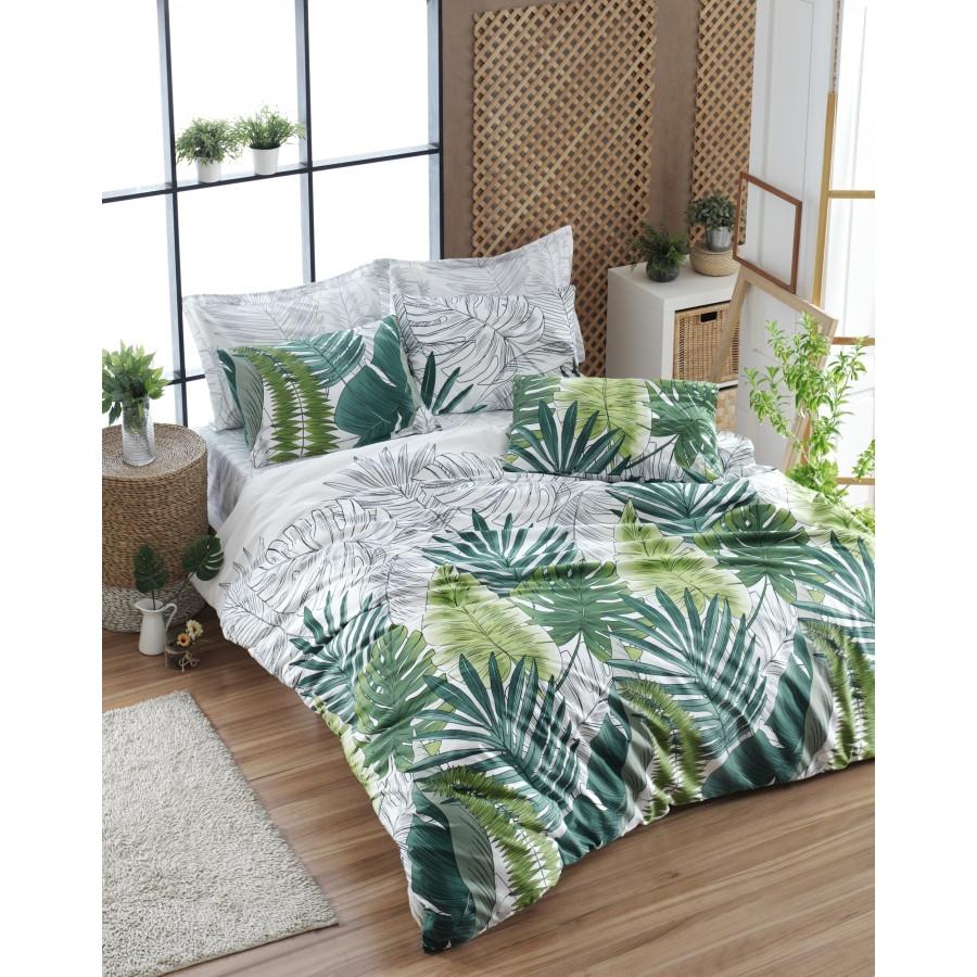 Постельное белье Lotus Home Perfect Ranforce - Freshness зеленый полуторный