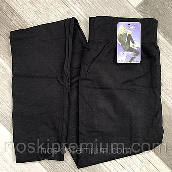 Лосины женские бесшовные хлопок баталы Kenalin, чёрные, размер 4XL-8XL, 091