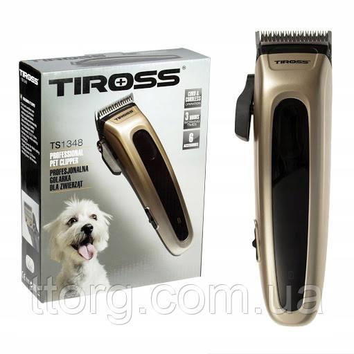 Машинка для стрижки шерсти собак, кошек, животных  Tiross TS-1348 (Польша)