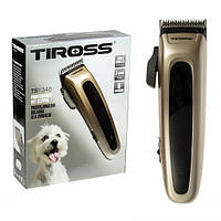 Машинка для стрижки шерсти собак, кошек, животных  Tiross TS-1348 (Польша), фото 1