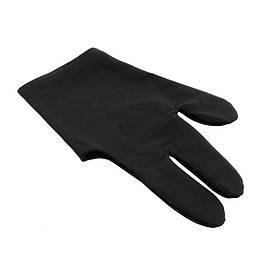 Перчатки бильярдные 1шт черные KB-0007