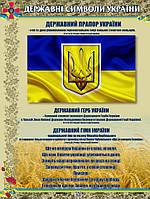 """Стенд """"Государственные символи Украины"""" в кабинет ЗАЩИТА УКРАИНЫ"""