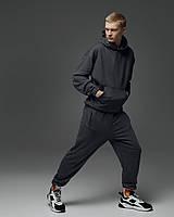 Спортивный костюм оверсайз Пушка Огонь Scale 2.0 темно-серый