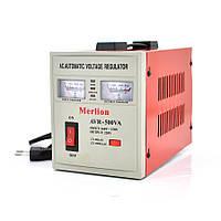 Стабілізатор Merlion AVR-500VA, аналогова індикація, Q6
