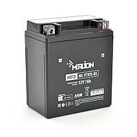 Мотоаккумулятор Merlion MC - YTX7L-BS, Black Case, 12V 7.0 Ah (114*71*131), Q10