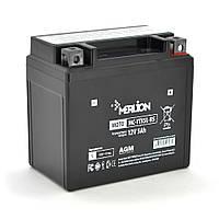 Мотоаккумулятор Merlion MC - YТХ5L-BS, Black Case, 12V 5.0 Ah (114*70*109), Q10