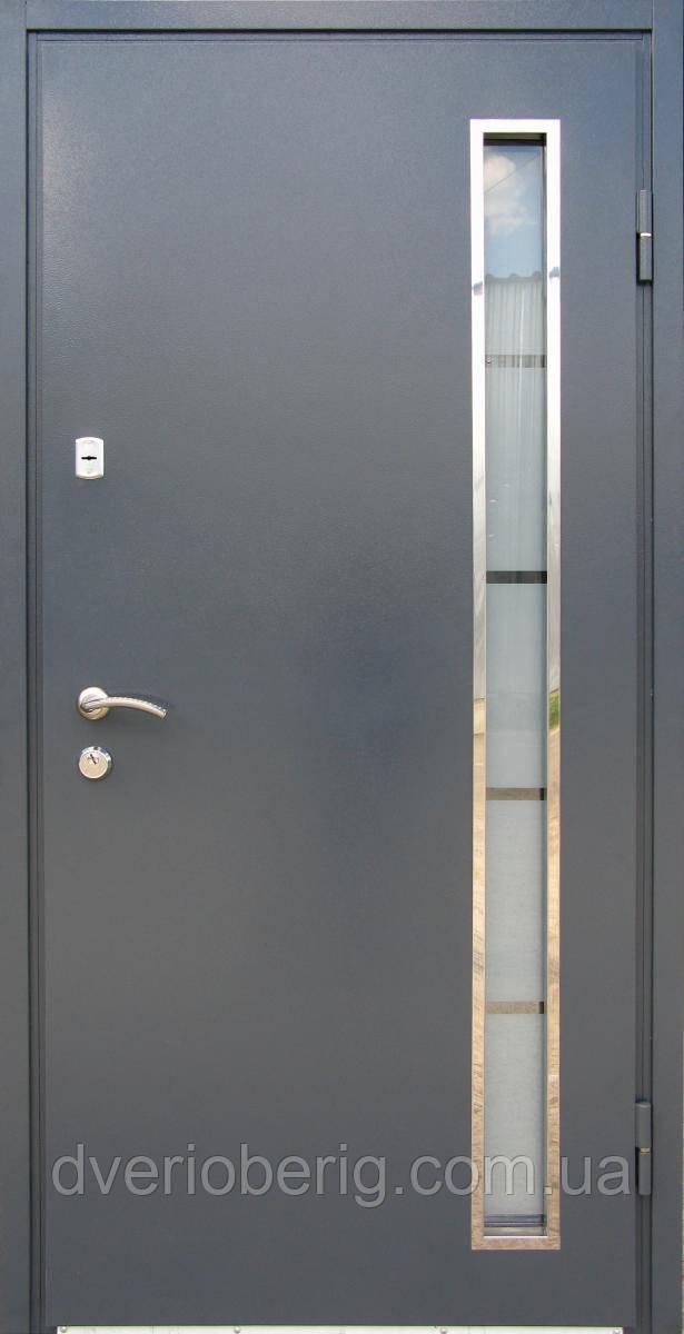 Вхідні двері модель метал мдф рал 7024 антрацит