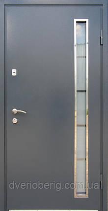 Вхідні двері модель метал мдф рал 7024 антрацит, фото 2