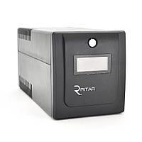 ДБЖ Ritar RTP1200 (720W) Proxima-D, LCD з AVR, 3st, 4x УНІВЕРСАЛЬНИЙ socket, 2x12V7Ah, plastik Case ( 460 x 225 X