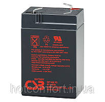 Акумуляторна батарея CSB GP645, 6V 4.5 Ah (70 х 47 х 105 (110) ) Q20
