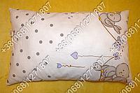 Детская силиконовая подушка 40х60 в кроватку, в садик белая