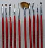 Набор кистей / кисти для дизайна наращивания маникюра росписи френча 10 шт. красные синие