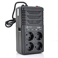 Стабілізатор напруги релейний RITAR CUBE-4 800VA 480W 4SHUKO, Q12 (278*98*123) 2кг (215*115*90)