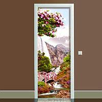 Наклейка на дверь Япония 650х2000мм виниловая 3Д наклейка декор самоклеящаяся