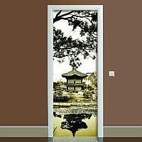 Наклейка на дверь Умиротворение 650х2000мм виниловая 3Д наклейка декор самоклеящаяся