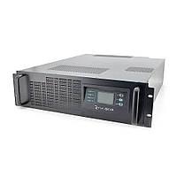 ДБЖ з правильною синусоїда ONLINE Ritar RT-6KL-LCD, RACK 6000VA (5400Вт), 192В, макс. Струм 5A, під зовнішній