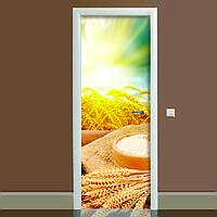 Наклейка на дверь Этно 650х2000мм виниловая 3Д наклейка декор самоклеящаяся