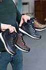 Подростковые кроссовки кожаные весна/осень черные высокие Road-style (37-41 разм), фото 4