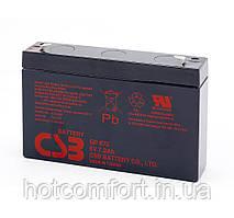 Акумуляторна батарея CSB GP672, 6V 7.2 Ah (94х151х34мм), Q10