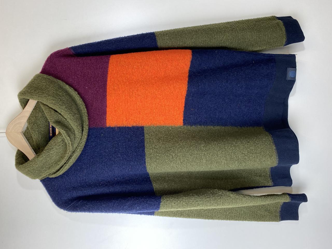 Реглан мужской Scotch & Soda цвет зеленый-синий-красный размер L арт 10153116-FWMM-D40