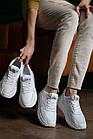 Женские кроссовки кожаные летние белые Multi-shoes RW сетка, фото 2