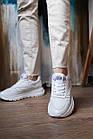 Женские кроссовки кожаные летние белые Multi-shoes RW сетка, фото 6