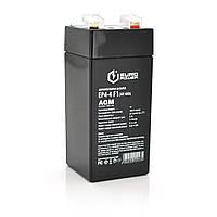 Акумуляторна батарея EUROPOWER AGM EP4-4M 1 4 V 4 Ah ( 47 x 47 x 100 (105) ) Black Q30