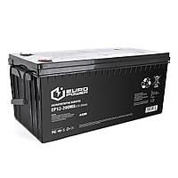 Акумуляторна батарея EUROPOWER AGM EP12-200M8 12 V 200Ah ( 530 x 255 x 277) Black Q1