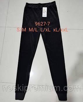 Лосины женские велюровые Kenalin, черные, размер S-M, 9627-7