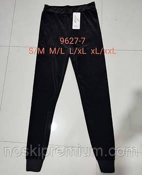 Лосины женские велюровые Kenalin, черные, размер M-L, 9627-7