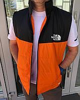 Демісезонна чоловіча помаранчева жилетка (2 кольори) ПН/-2888