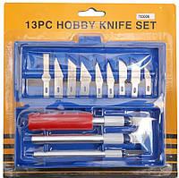№703006 набор ножей для резьбы по дереву (14 лезвий в комплекте)