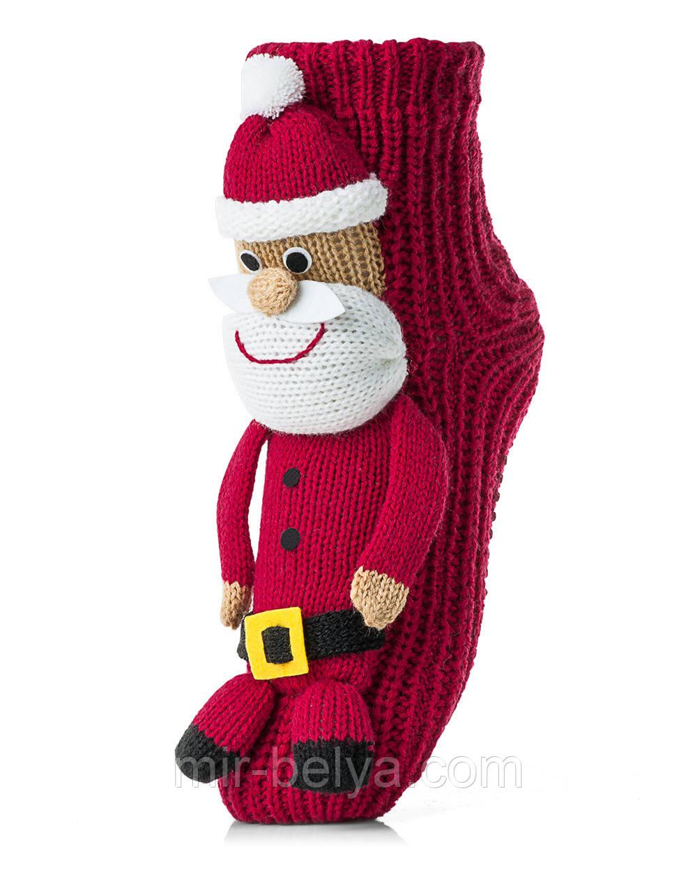 Женские детские носки ATTRACTIVE  3 D игрушка дед мороз